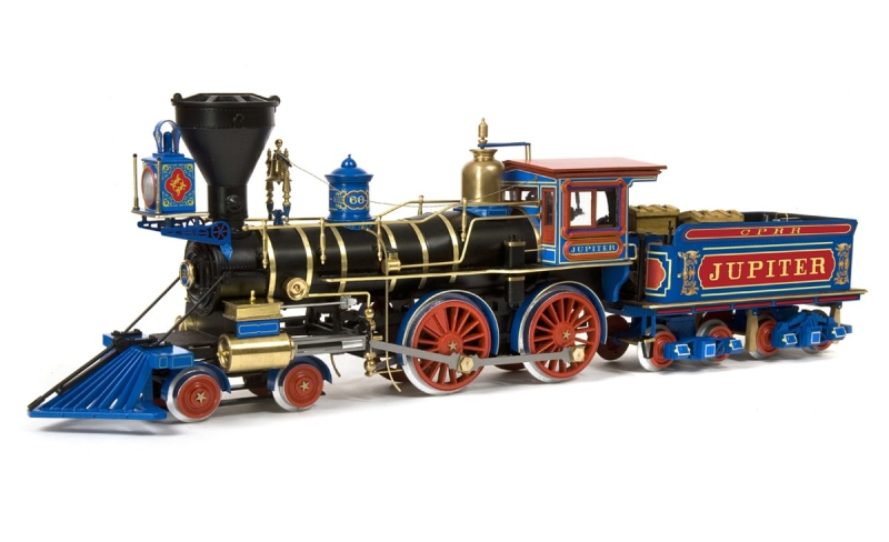 Locomotive à vapeur Jupiter du Central Pacific Railroad échelle I 1/32